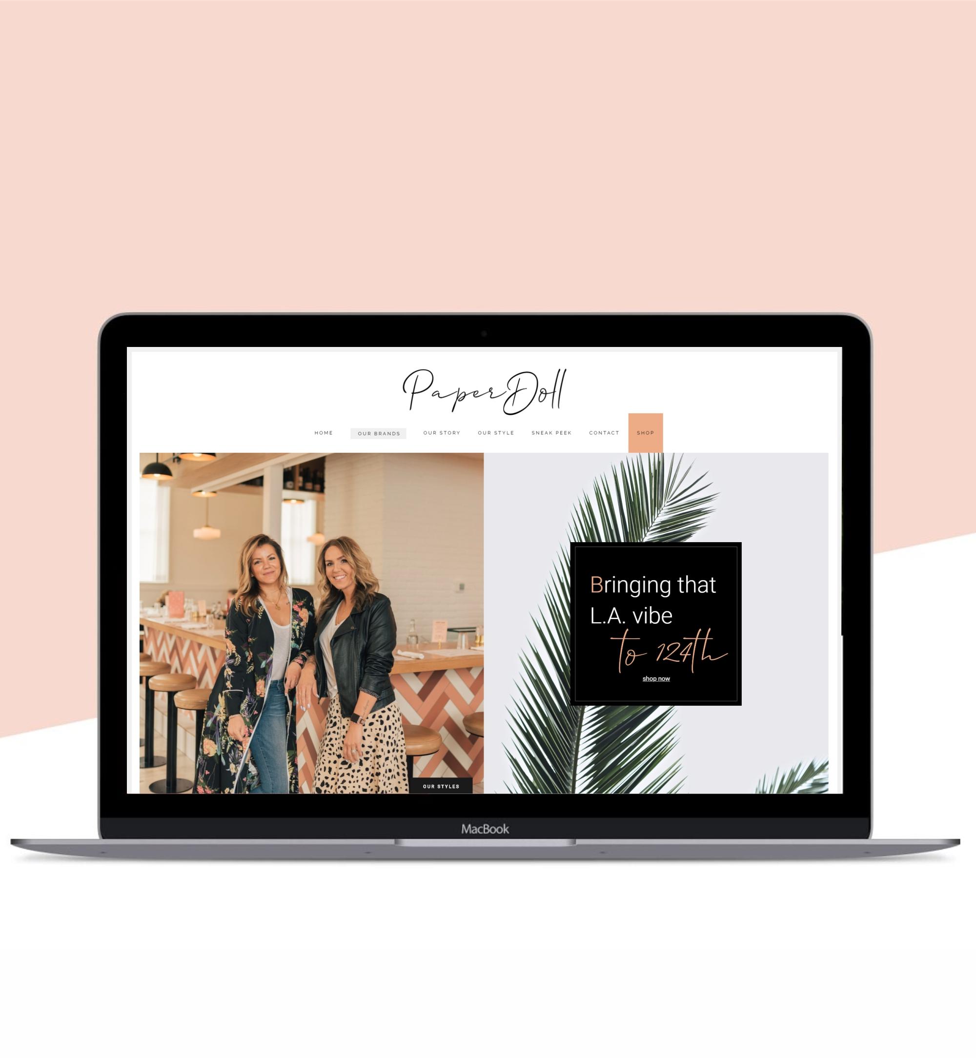 Website Development & Marketing Strategy: PaperDoll Clothing Co.